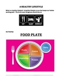 HEALTHY LIVING: EATING (FOOD PLATE), EXERCISE, HYGIENE, AN