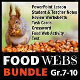 Food Webs - LESSON BUNDLE {Editable}