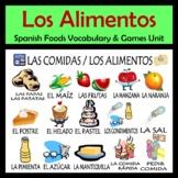 Foods Vocabulary Activities & Games Unit in Spanish (Las comidas)