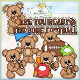 Football Bears Clip Art (Sports / Football Teddy Bears) -