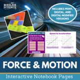 Science Interactive Notebook - Force and Motion