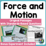 Force and Motion: Science Informational Text Passages