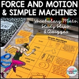 Force and Motion/Simple Machines Vocabulary Match up Mats