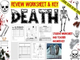 Forensic Science: Death Review Worksheet, including Crossword