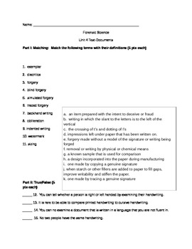 Forensics-Unit 4 Test-Documents