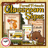 Forest Friends Classroom Signs