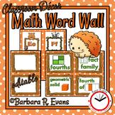 Forest Friends Math Word Wall