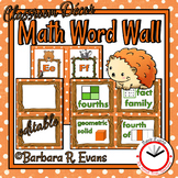 Forest Friends Math Word Wall
