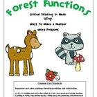 Forest Functions - Common Core Math - Story Problems / Mak