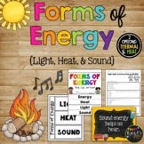 Forms of Energy Set with Heat, Light, and Sound {Grades 1,