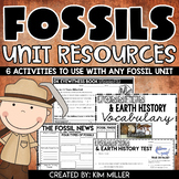 Science - Fossils & Earth Surface Unit Resources *Test Included!