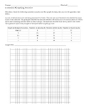 Fossils Evolution Graphing Practice Lesson with Critical T