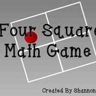 Four Square Math Game