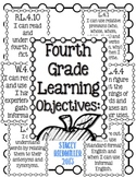 Fourth Grade ELA SLO Common Core Standards I Can Statement