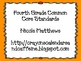 Fourth Grade Math Common Core Standards Orange Doodle Font