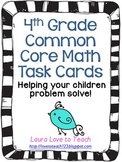Fourth Grade Math Common Core Task Cards