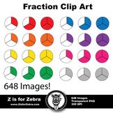Fraction Circle Clip Art 648 Images - CU OK! ZisforZebra