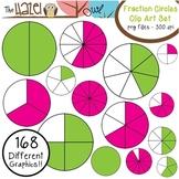 Fraction Circles Set: Clip Art Graphics for Teachers {Gree