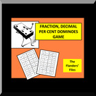 Fraction Decimal Per Cent Dominoes Matching Game