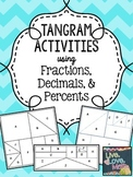 Fraction, Decimal, Percent Tangram Activities
