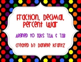 Fraction, Decimal, Percent War Game