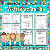 Fraction Number Line Worksheets