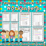 Fraction Number Line Worksheets