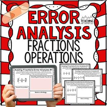 Fraction Operations Error Analysis {Center, Enrichment, Assessment}