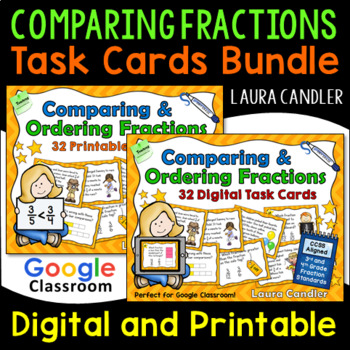 Fraction Task Cards - Comparing and Ordering