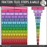 Fraction Tiles, Fraction Strips, & Fraction Walls {Clipart