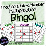 Fraction and Mixed Number Multiplication Bingo