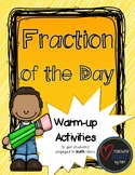Fraction of the Day - A Warm-up Math Activity