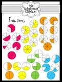 Fractions Circle Clip Art