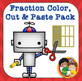Fractions Color, Cut and Paste Bundle