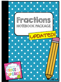 Fractions Math Notebook/Math Journal Pack