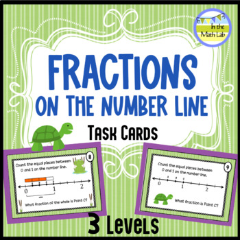 Fractions On the Number Line --  {Leveled} Task Cards