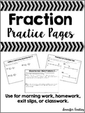 Fractions {Practice Pages}