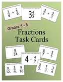Fractions Task Cards Grades 3 to 5