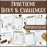 Fractions Tasks and Challenges {Differentiated Fraction Ac