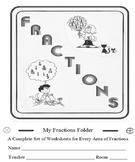 Fractions Workbook Complete 55 Worksheets Entire Unit