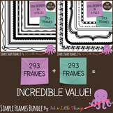 Frames / Borders - BUNDLE Simple Shape Frames 1 & 2