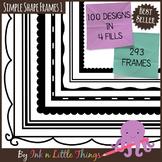 Borders / Frames - Simple Shape Frames Set 1