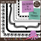Frames / Borders - Simple Shape Frames Set 2