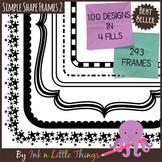 Frames / Borders - Simple Shape Frames Set 2