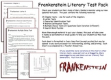 Frankenstein Test Pack Mary Shelley