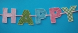 Frayed Block fabric letters