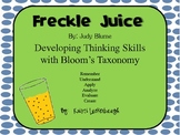 Freckle Juice - Using Bloom's Taxonomy