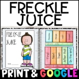 Freckle Juice by Judy Blume: Complete Unit of Reading Responses