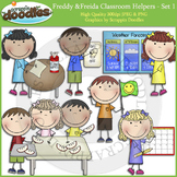 Freddy & Freida Classroom Helpers - Bundle Color & Line Art