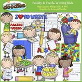 Freddy & Freida Writing Kids Clip Art
